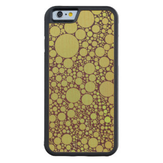 Geometric Patterns | Green and Orange Circles Carved® Maple iPhone 6 Bumper