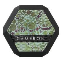 Geometric Patterns | Green Circles and Triangles Black Bluetooth Speaker