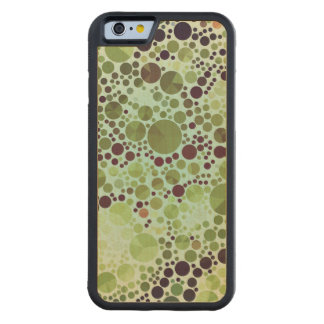 Geometric Patterns | Green Circles and Triangles Carved Maple iPhone 6 Bumper Case