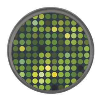Geometric Patterns | Green circles Gunmetal Finish Lapel Pin