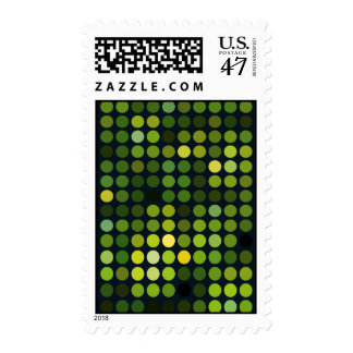 Geometric Patterns | Green circles Postage