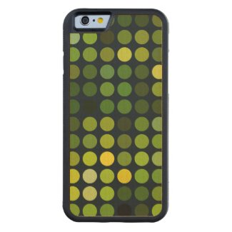 Geometric Patterns | Green circles Carved® Maple iPhone 6 Bumper