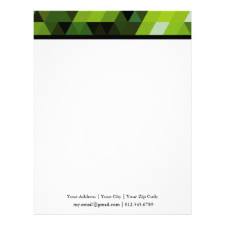 Geometric Patterns | Green triangles Letterhead