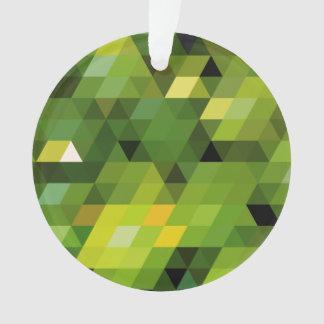 Geometric Patterns   Green triangles Ornament