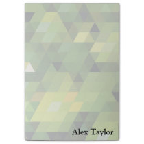 Geometric Patterns | Green triangles Post-it Notes