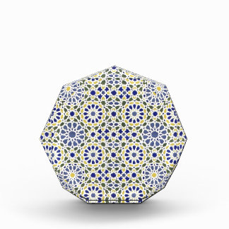 Geometric Patterns in Yellow and Blue Award