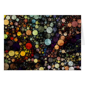 Geometric Patterns | Multicolor Circles Card