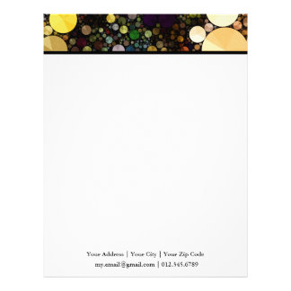 Geometric Patterns | Multicolor Circles Letterhead