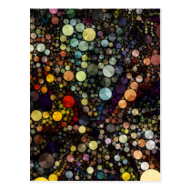Geometric Patterns | Multicolor Circles Postcard