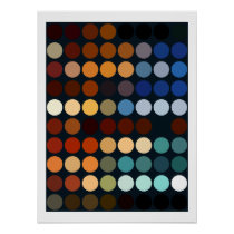 Geometric Patterns | Multicolor Circles Poster
