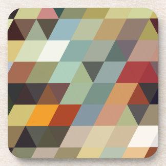 Geometric Patterns   Multicolor Triangles Coaster