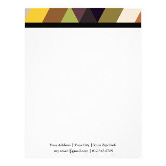 Geometric Patterns | Multicolor Triangles Letterhead