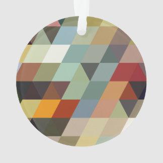 Geometric Patterns   Multicolor Triangles Ornament