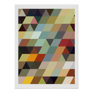 Geometric Patterns | Multicolor Triangles Poster
