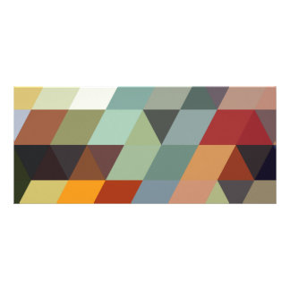 Geometric Patterns | Multicolor Triangles Rack Card