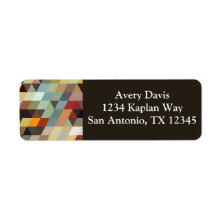 Geometric Patterns | Multicolor Triangles Return Address Label