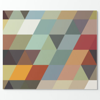 Geometric Patterns | Multicolor Triangles Wrapping Paper