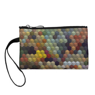 Geometric Patterns   Multicolored cubes and square Coin Wallet