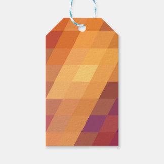 Geometric Patterns   Orange Parallelograms Gift Tags