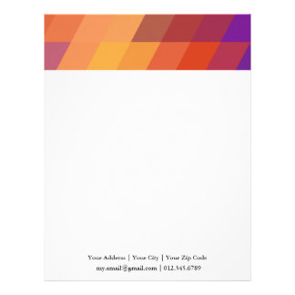 Geometric Patterns | Orange Parallelograms Letterhead