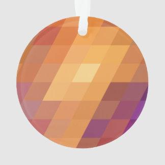 Geometric Patterns   Orange Parallelograms Ornament
