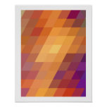 Geometric Patterns   Orange Parallelograms Poster