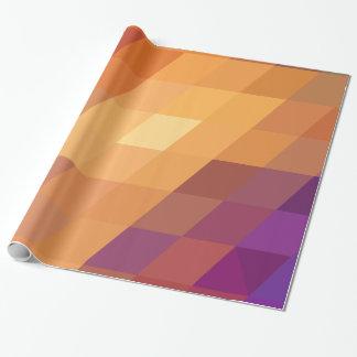 Geometric Patterns   Orange Parallelograms Wrapping Paper