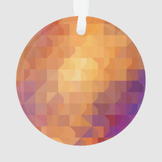 Geometric Patterns   Orange Squares and Triangles Ornament