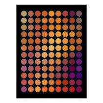 Geometric Patterns | Purple and Orange Circles Poster