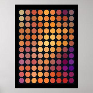 Geometric Patterns | Purple and Orange Circles Poster