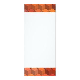 Geometric Patterns | Purple and Orange Cubes 4x9.25 Paper Invitation Card