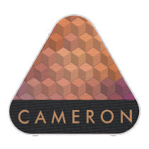Geometric Patterns | Purple and Orange Cubes Speaker