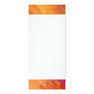 Geometric Patterns | Purple and Orange Strips Card