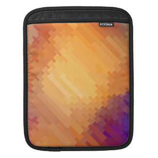 Geometric Patterns | Purple and Orange Strips iPad Sleeve