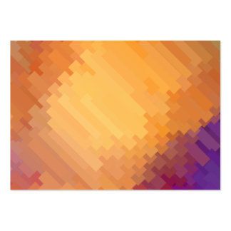 Geometric Patterns | Purple and Orange Strips Large Business Card