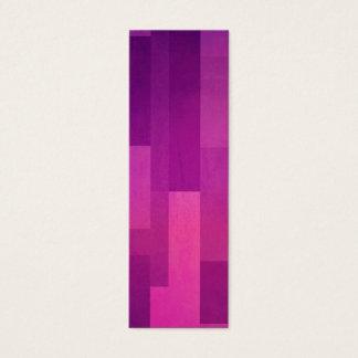 Geometric Patterns | Purple Squares Mini Business Card