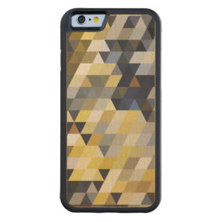Geometric Patterns | Yellow and Blue Triangles Carved® Maple iPhone 6 Bumper Case