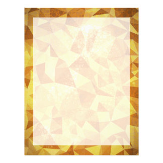 Geometric Patterns | Yellow Triangles and Circles Letterhead
