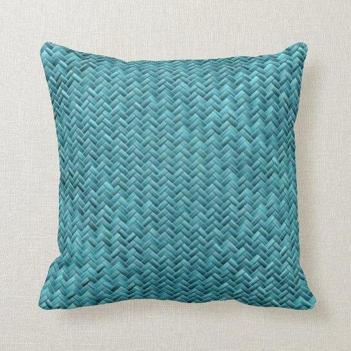 How To Make A Basket Weave Pillow : Geometric peacock basket weave pattern pillow zazzle
