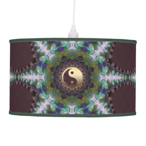 Geometric Peacock Star Yin Yang Table Lamp Shade