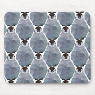 Geometric Penguin Huddle Print Mouse Pad