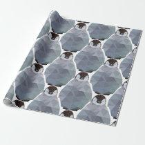 Geometric Penguin Huddle Print Wrapping Paper