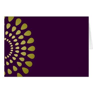 Geometric Petal Pattern in Gold Blank Card