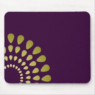 Geometric Petal Pattern in Gold Mouse Pad