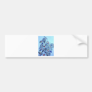 Geometric Piet Modrian Inspired Pattern Bumper Sticker