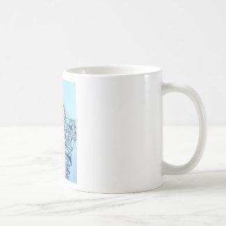 Geometric Piet Modrian Inspired Pattern Coffee Mug