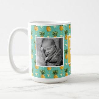 Geometric Pineapple Pattern | LOVE with Photos Coffee Mug
