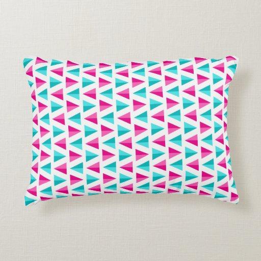 geometric pink   aqua blue triangles pattern accent pillow LG Slide Phone lg envoy manual