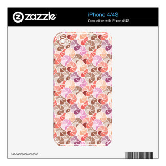 Geometric Pink Umbrella Mosaic iPhone 4/4S Skin 1 iPhone 4 Decals