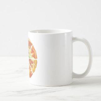Geometric pizza coffee mug